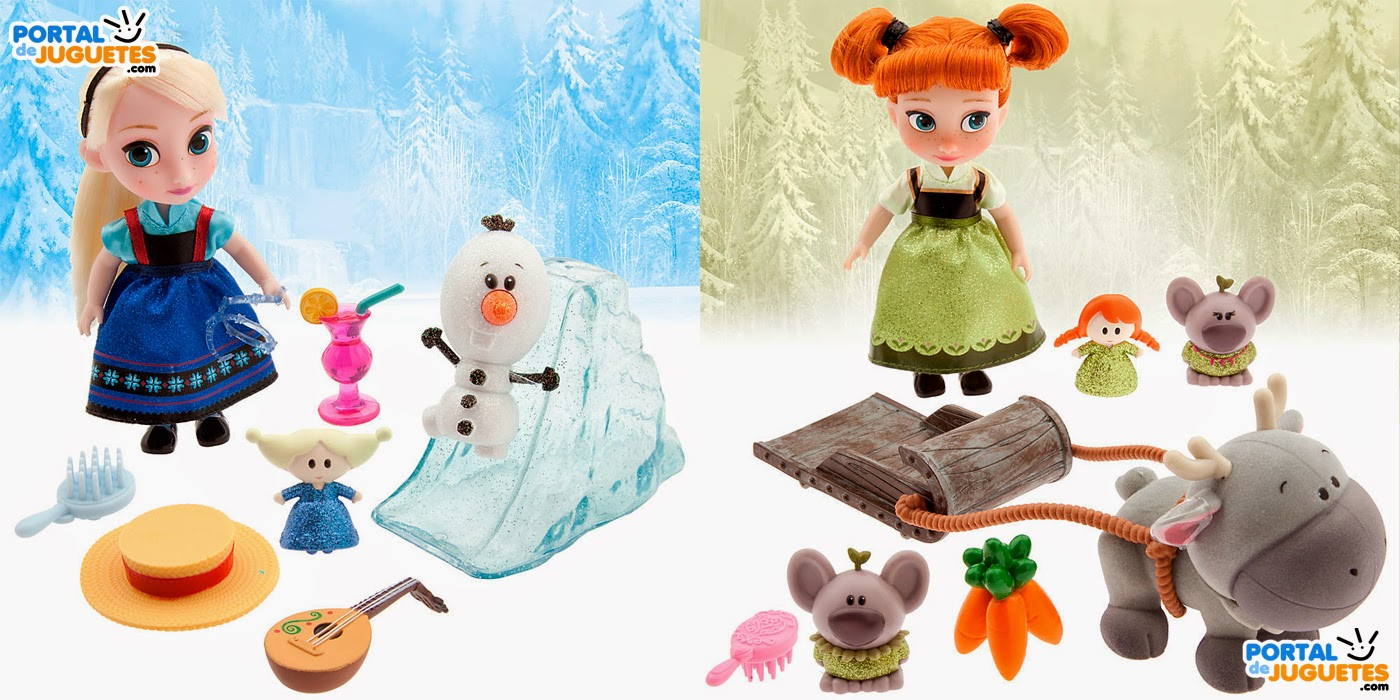minimunecas elsa anna frozen coleccion disney animators