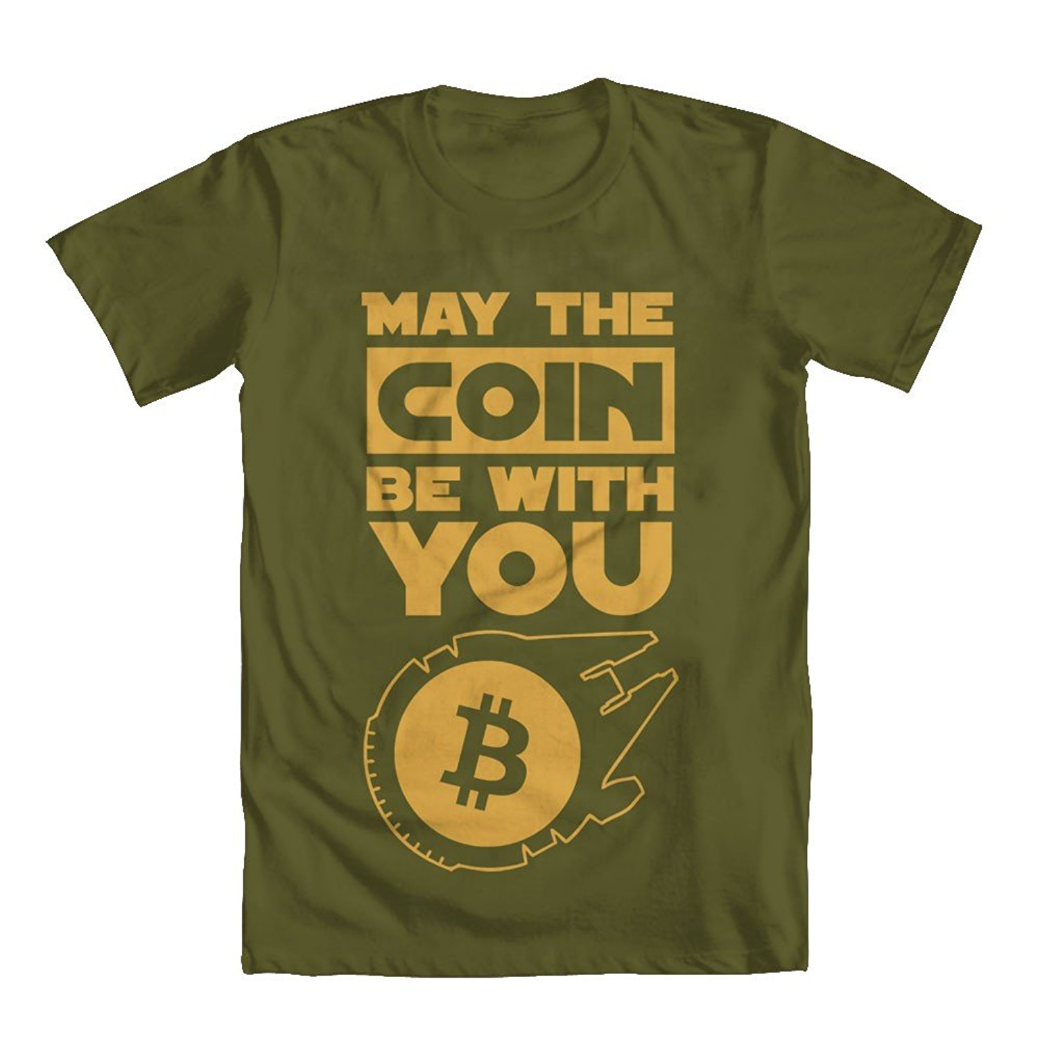 Bitcoin Star Wars Men's T-Shirt Green Large