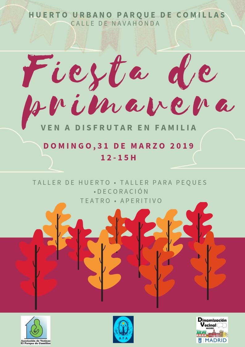 31 de marzo Fiesta de la primavera en el barrio de Comillas (Carabanchel)