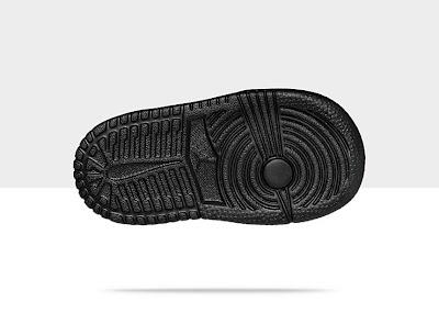 Air Jordan 1 Mid Flex (2c-10c) Toddler Girls' Shoe Black/Black-Black, Style - Color # 554727-010