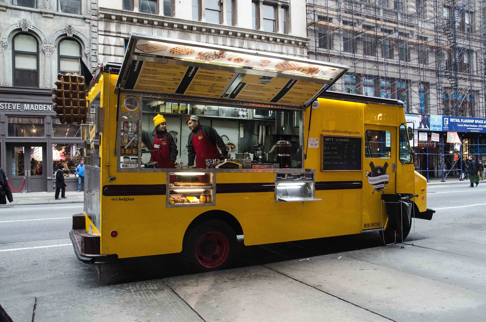 Basically wafels dinges are these yellow food trucks