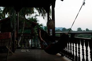 Nuestra cabaña junto al río en Don Khone, 4.000 islas (Si Pha Don, Laos)