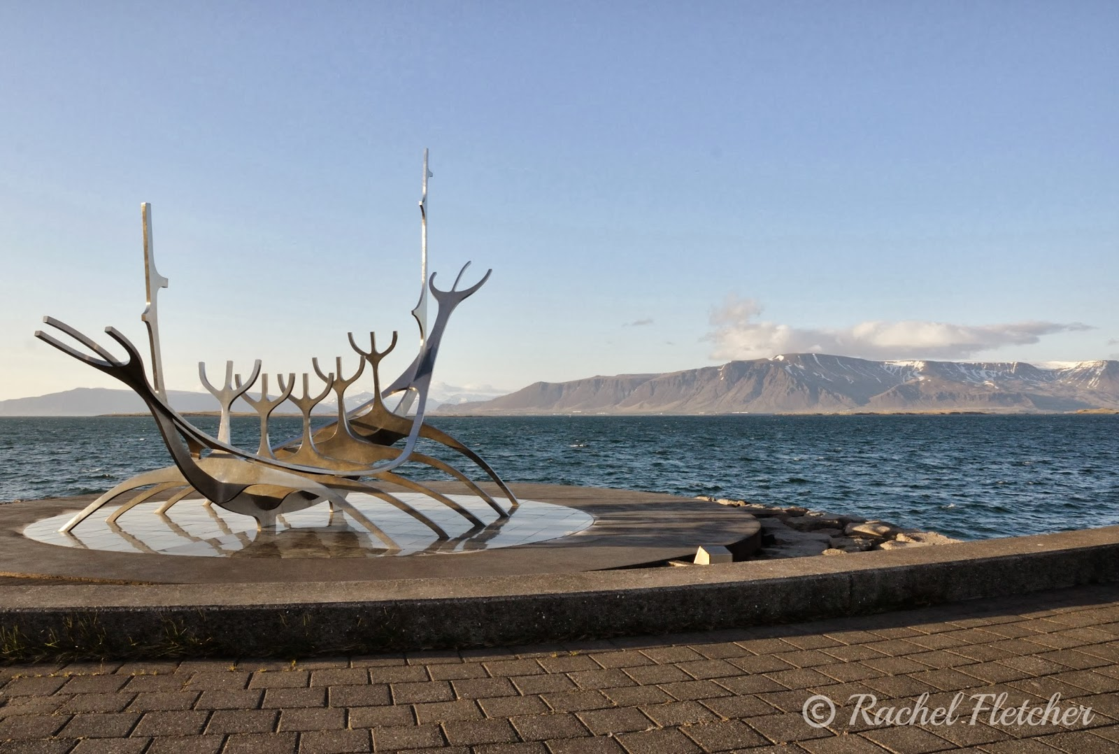 The Sun Voyager Sculpture in Reykjavik