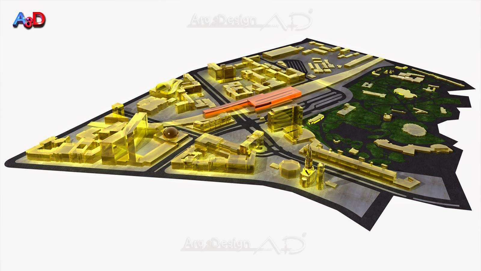 Maqueta 3D Salamanca A3D Arq3design