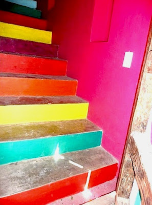 Colorful Mexican Painted Stairs