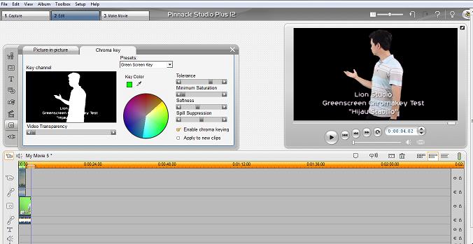 Mengganti Background Video Dengan Teknik Green Screen Menggunakan Pinnacle Studio