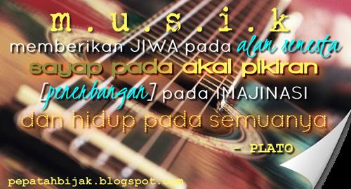 Pepatah bijak tentang musik