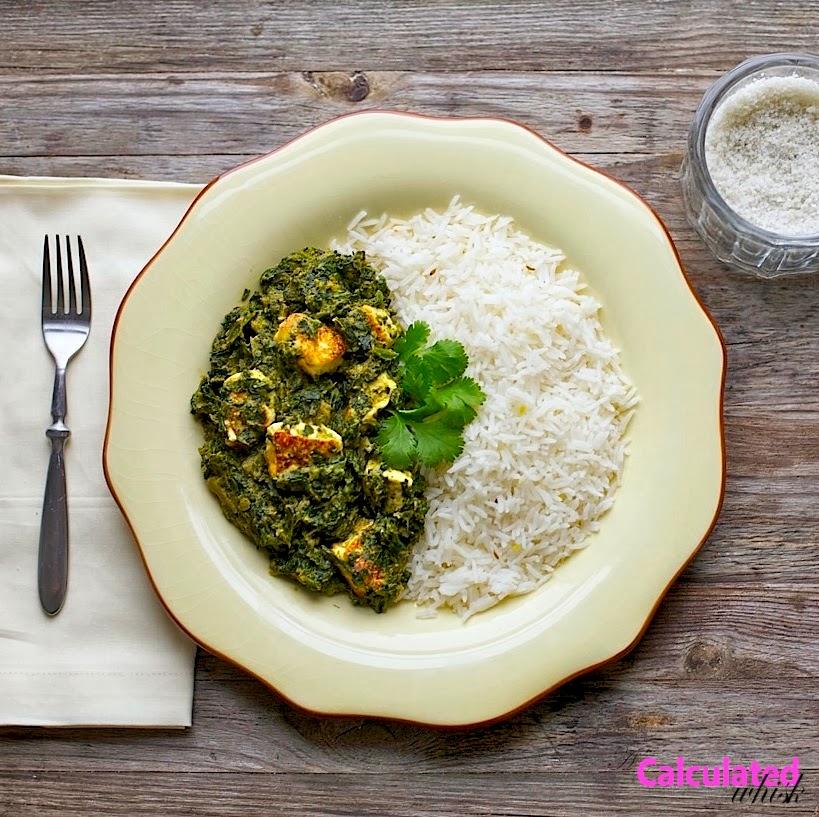 Saag Paneer (Gluten free, Vegetarian)