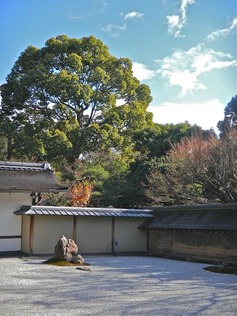 Ryoan-ji's dry landscape rock garden