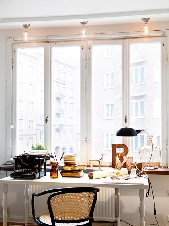 mesa de trabajo estilo nordico