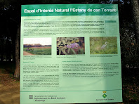 Cartell informatiu de l'Espai d'Interès Natural de l'Estany de Can Torrent