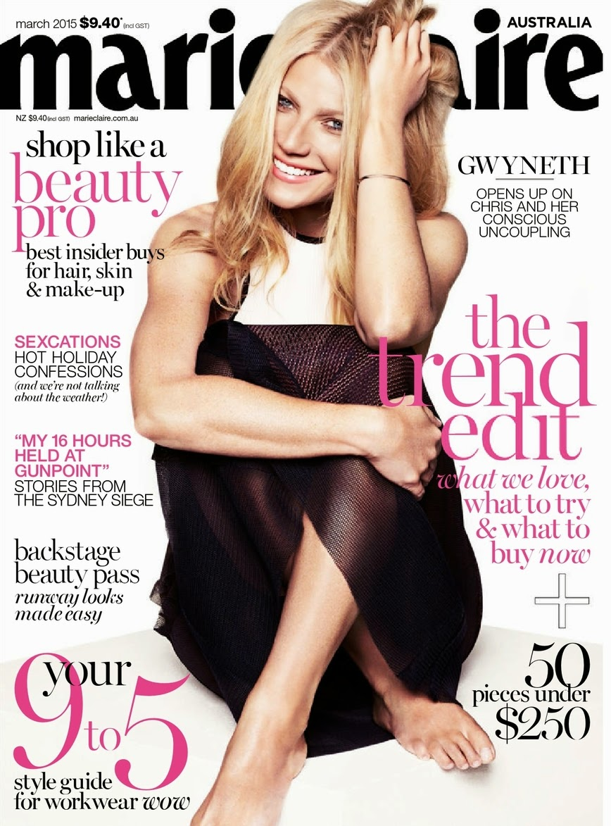 Actress, Singer: Gwyneth Paltrow for Marie Claire Australia