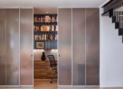 Desain Pintu Geser Kaca