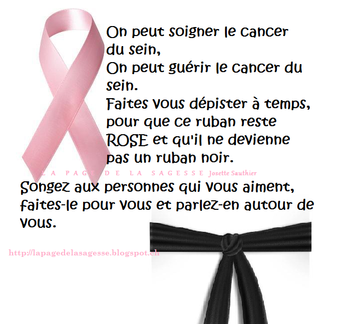Article de cancer du sein ruban rose