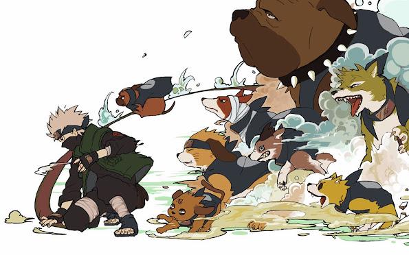 kakashi hatake summoning jutsu dogs anime hd wallpaper