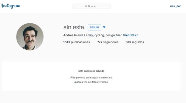 Instagram le quita la cuenta por llamarse como Iniesta