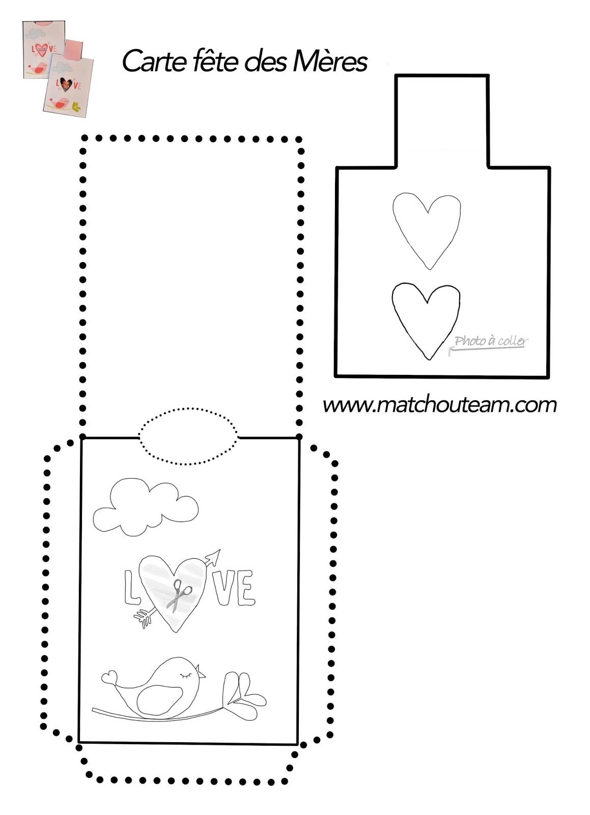 carte fête des mère à imprimer