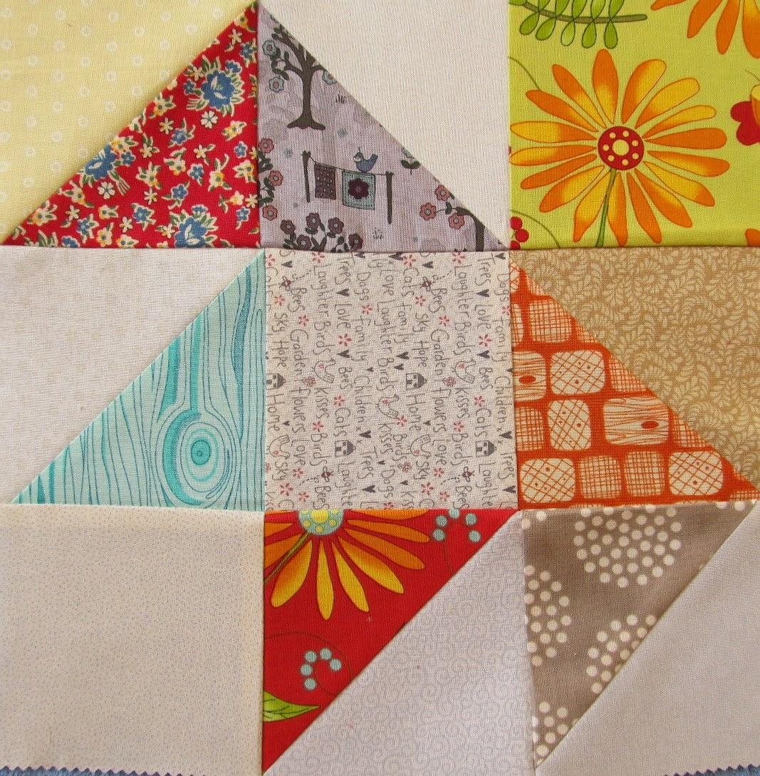 How to piece a quilt block using triangles