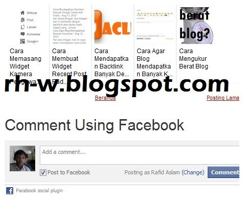 cara membuat komentar facebook di blog