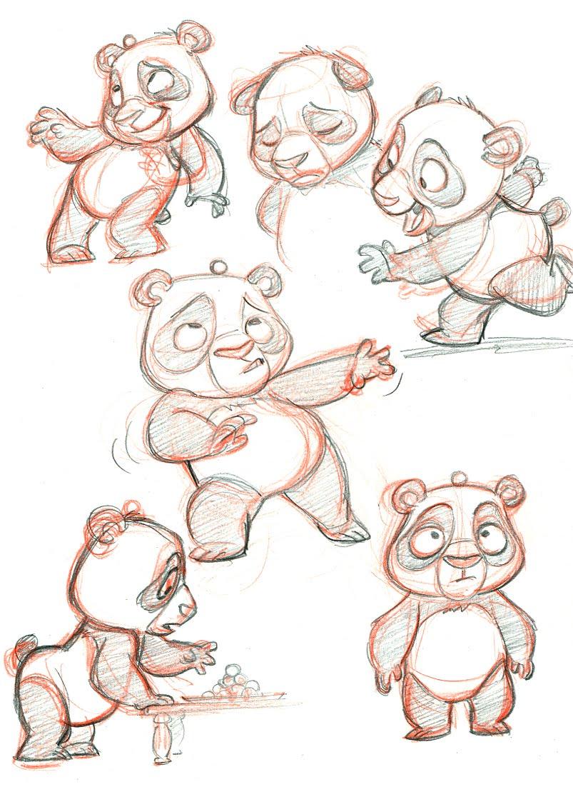 Tom Bancroft Character Design Book : Tom bancroft little panda sketches