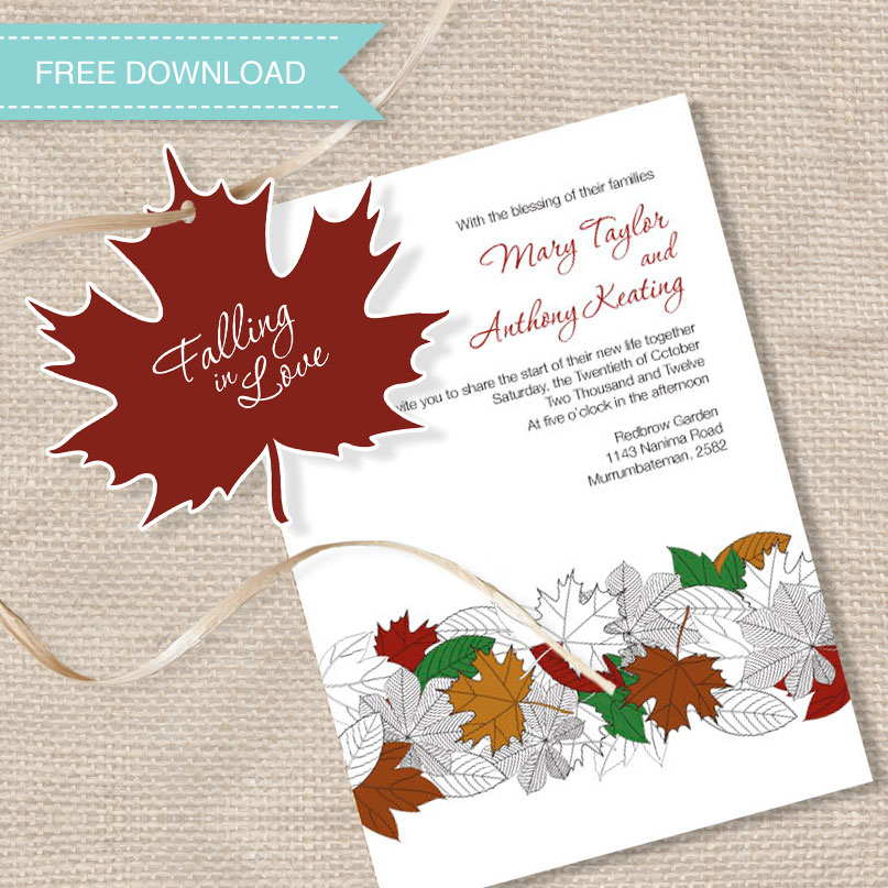 i do\' it yourself: freebie falling in love autumn leaves