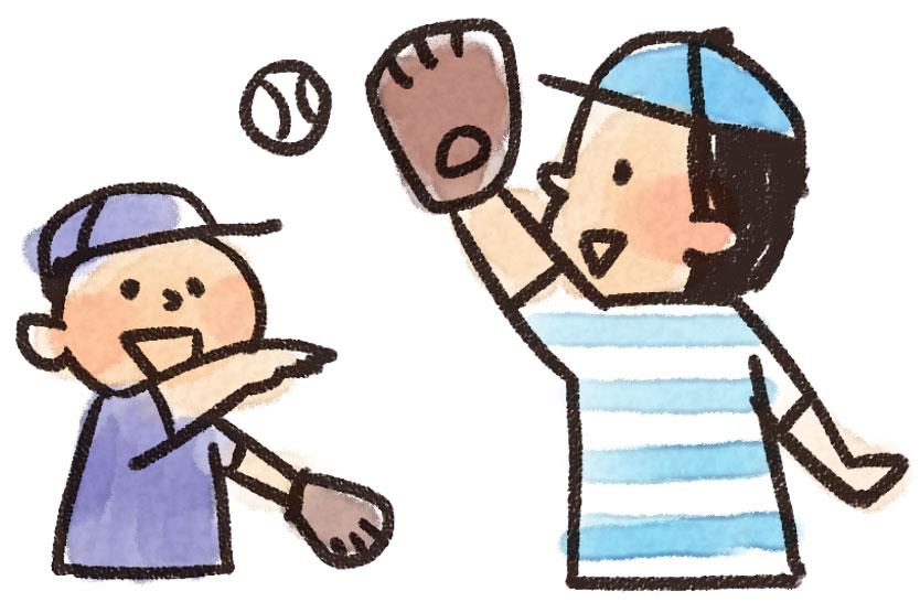 「キャッチボール 無料画像」の画像検索結果