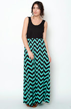 Chevron Maxi Dress - Fashion Industry Network