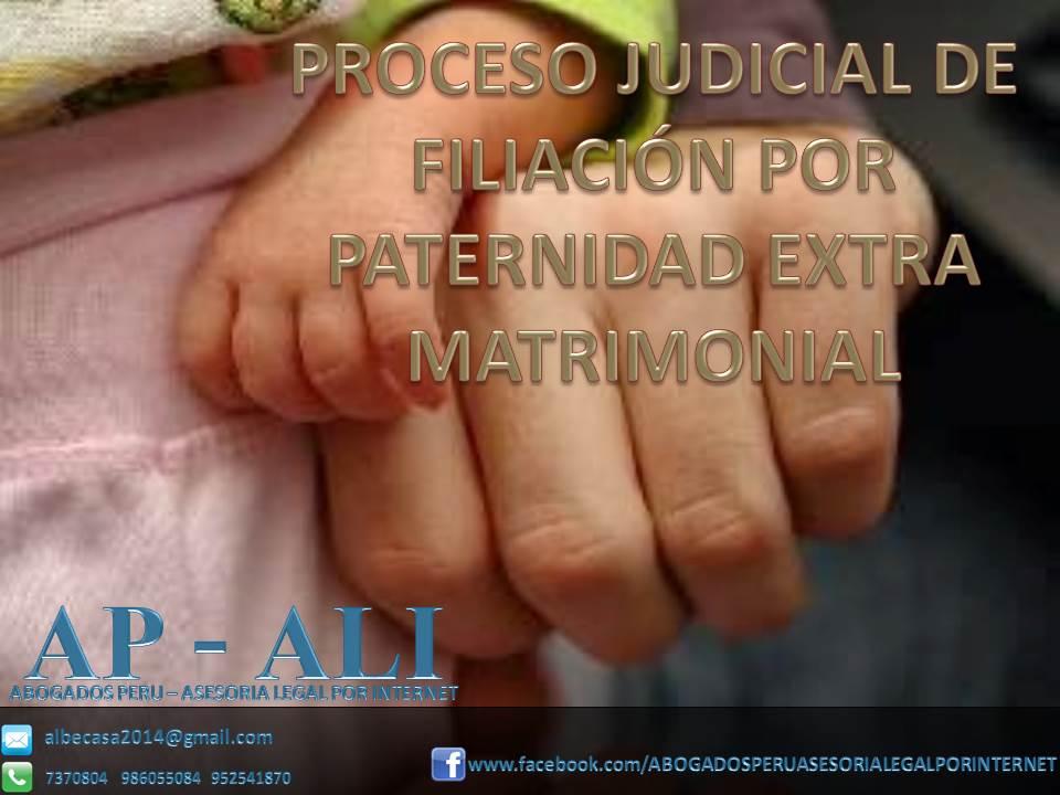 PROCESO JUDICIAL DE FILIACION POR PATERNIDAD