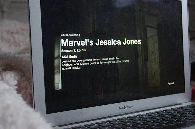 Watching Jessica Jones Netflix