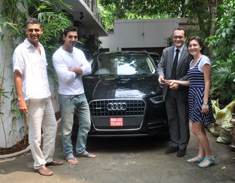 john abraham gifts audi q3 to his sisterinlaw anca