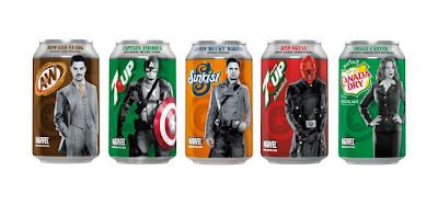7Up Captain America: The First Avenger five can set