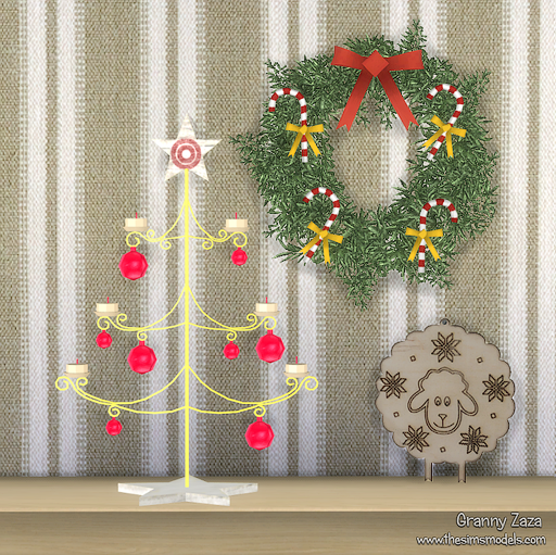 My Sims 4 Blog: Christmas Decor By Granny Zaza
