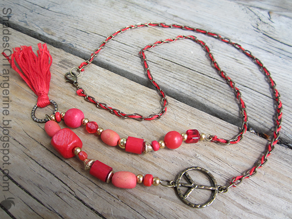 how to make a chain tassel necklace