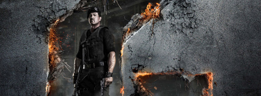 Expendables 2 Sylvester Stallone facebook cover