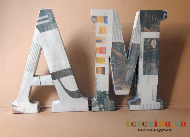 Letras cartapesta-Papel maché