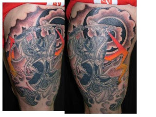 samurai tattoos color
