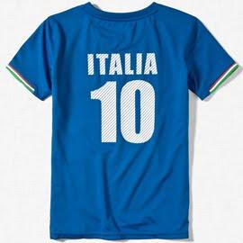 conjunto fútbol niño Italia Zara