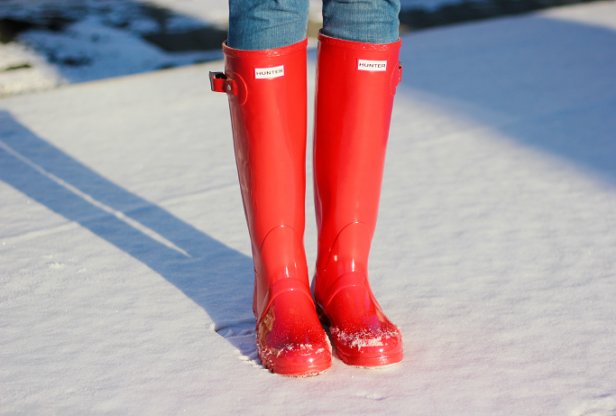 Red Hunter Boots, Hunter Boots For Snow,