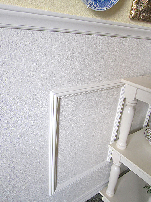DIY Faux Wainscoting In The Dining Room