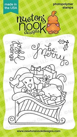 Christmas Delivery - 3x4 Christmas Stamp set with Sled by Newton's Nook Designs
