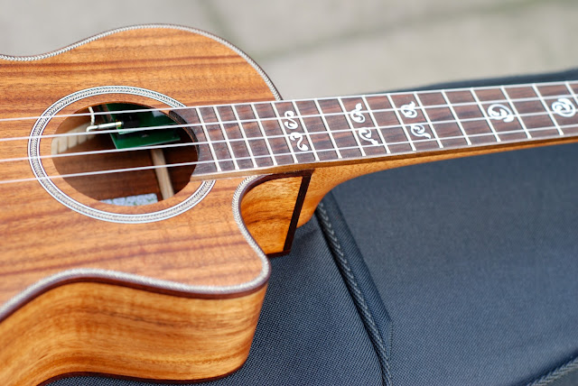 Kala All Solid Acacia Tenor ukulele cutaway