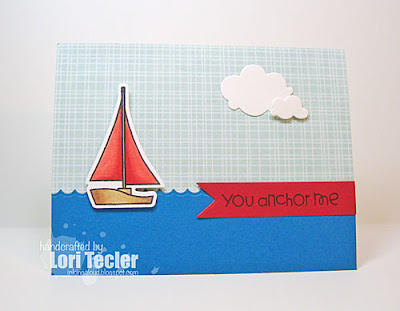 You Anchor Me card-designed by Lori Tecler/Inking Aloud-stamps and dies from Paper Smooches