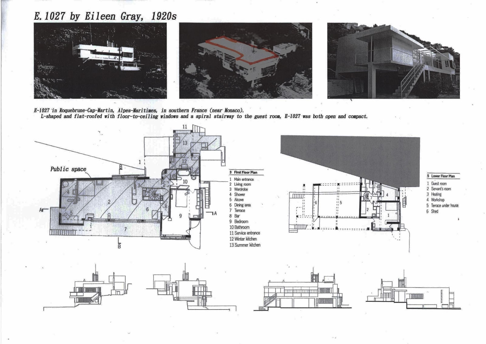 eileen gray e1027 floor plan - photo #13