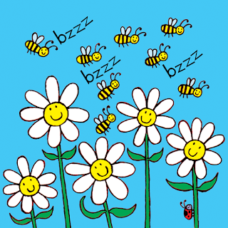 A picture of happy bees from My Happy Book A children's kindle picture book with added activities