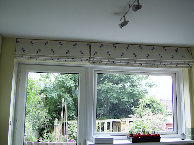 Roman blinds for awkward spaces.