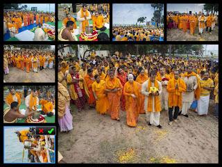 Last rights of Jagadguru Kripalu Ji Maharaj at Rameshwaram, Tamil Nadu