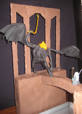 Lord of the Rings Cake - Gandalf Fighting the Balrog 3