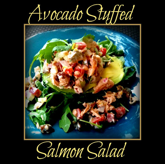 Avocado Stuffed w/Salmon Salad
