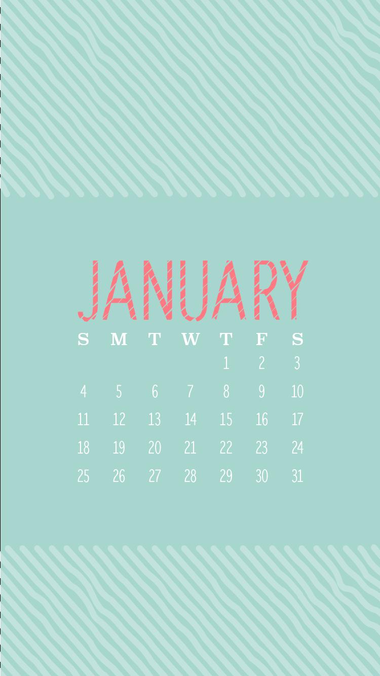 Calendar Wallpaper Iphone January : January iphone calendars wallpapers