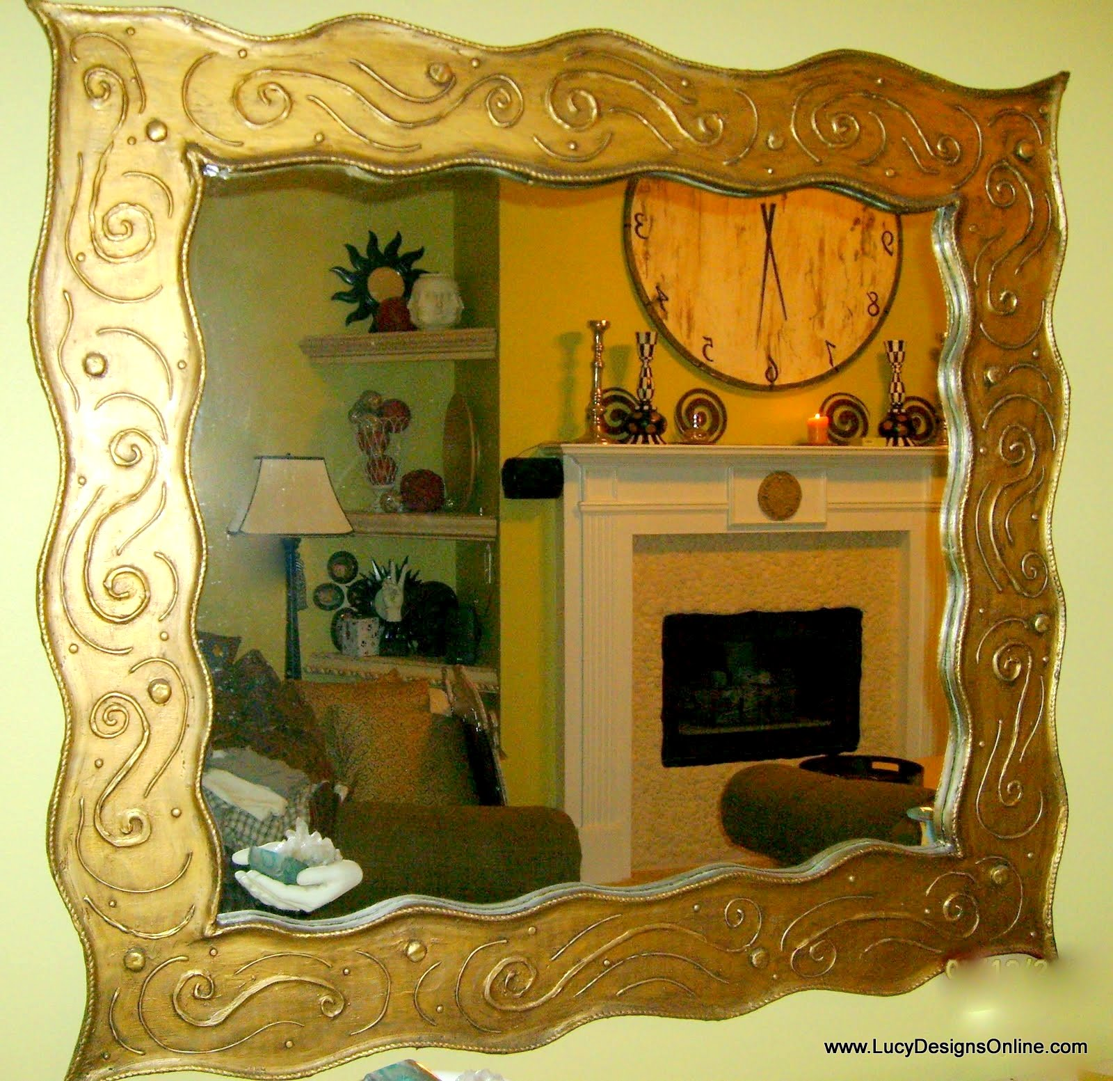 hand made oversize mirror frame